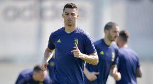 Cristiano Ronaldo si allena deluso, Juventus