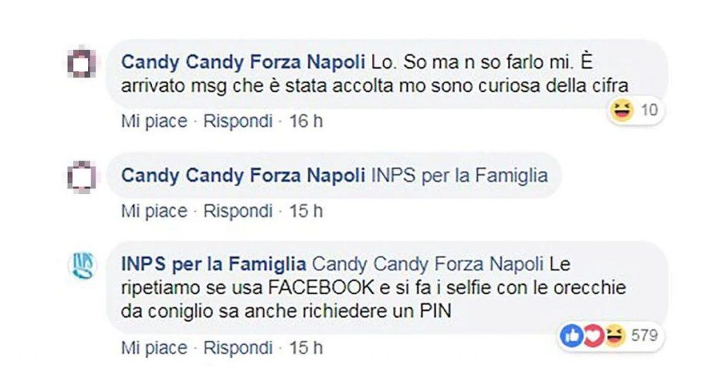 Candy Candy Forza Napoli su Facebook