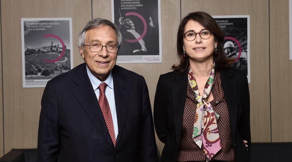 Elisabetta Ripa e Franco Bassanini di Open Fiber