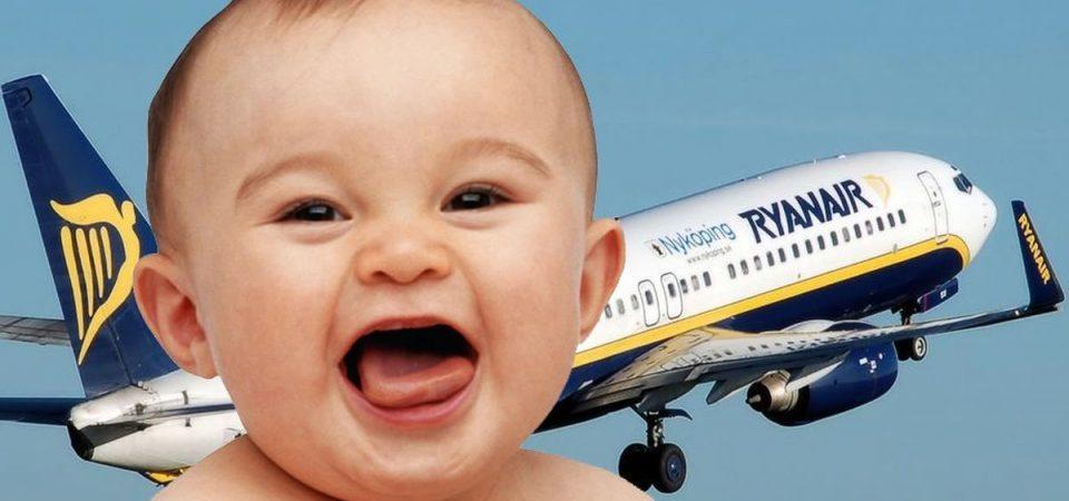 Neonati e Ryanair, finto scandalo: i bebè in aereo pagano sempre