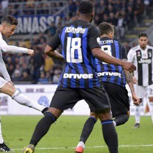 Inter-Juve: CR7 segna il gol n. 600 e il derby d'Italia finisce in pareggio