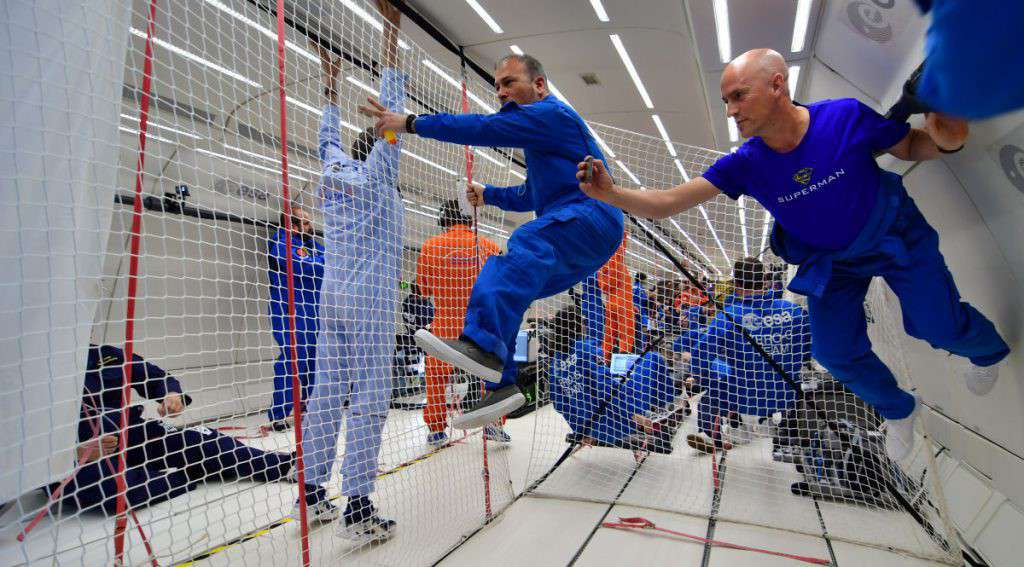 "L'area ""free floating"" a zero G"