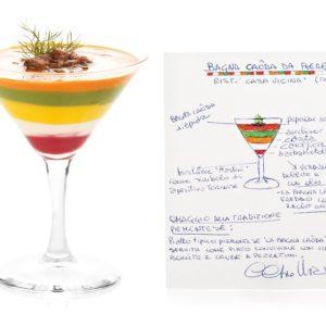La ricetta di Claudio Vicina: Bagna caoda da bere, con tocco d'artista