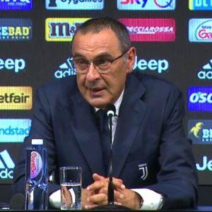 """Sarri: """"Alla Juve darò il 110%. E CR7 batterà il record di Higuain"""""""