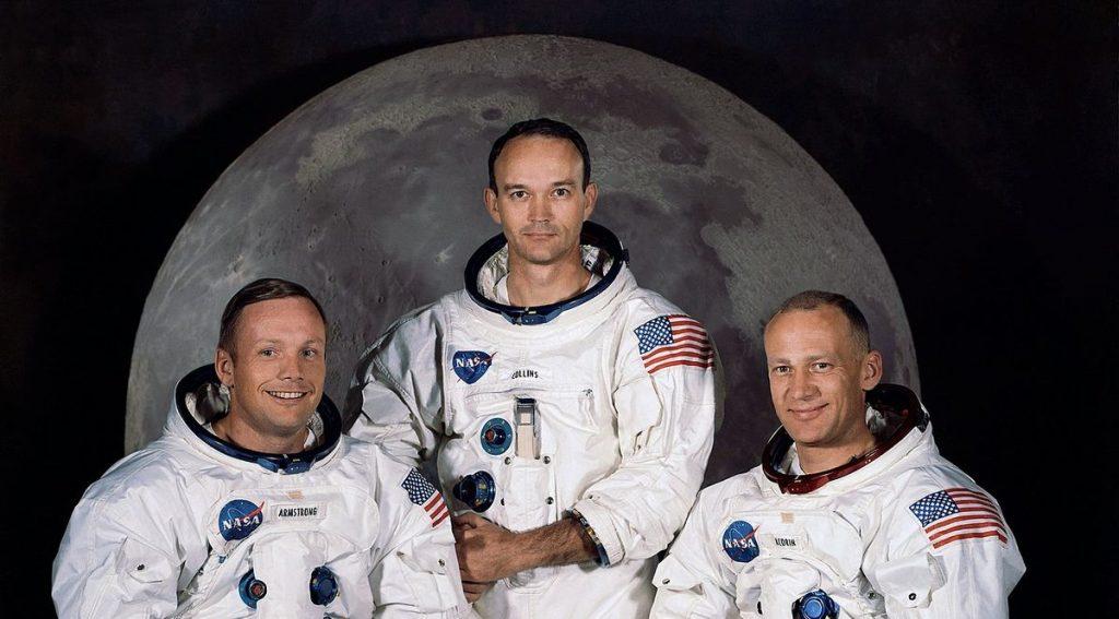 Neal Armstrong, Michael Collins ed Edwin Aldrin, gli astronauti dell'Apollo 11