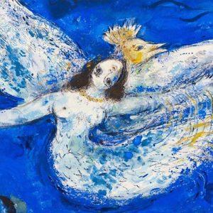 Marc Chagall e la sua storia: mucche che volano, amanti abbracciati e violini