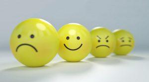 Felicità con faccina che ride