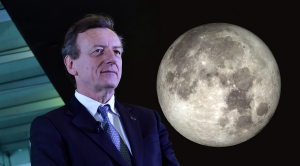 Roberto Battiston e la Luna