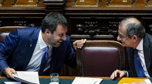 Il vicepremier Matteo Salvini e il ministro dell'Economia Giovanni Tria