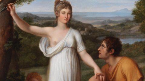"""BIAF: Angelica e Medoro del pittore """"imperiale"""" Pietro Benvenuti"""