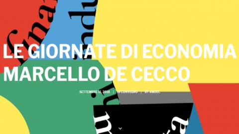 Torna Mani Visibili: le Giornate di Economia Marcello de Cecco