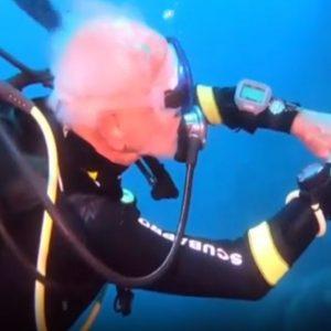 Immersioni, ha 96 anni il sub  più vecchio del mondo