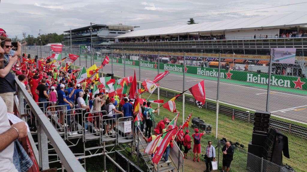 Tifosi Ferrari a Monza