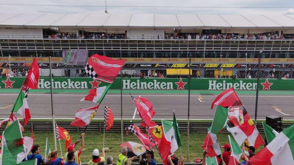 Tifosi Ferrari al Gran Premio di Monza
