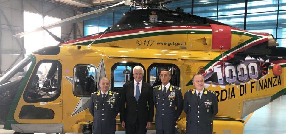 Leonardo: consegnato il millesimo elicottero AW139, record di vendite