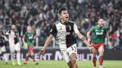 Champions: Juve trema e poi festeggia con Dybala, Atalanta ko