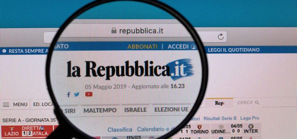 """""""La Repubblica"""" cambia editore: è nelle mani di Exor"""