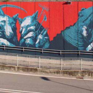Street Art di Ericailcane, un progetto di  riqualificazione urbana