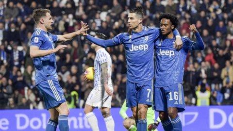 La Juve vince e consolida il primato, Lazio a Genova, rinvio per l'Inter
