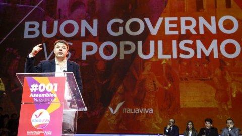 """Renzi (Iv): """"No al partito con Pd, Leu, M5S. Rispetto per Conte ma non è il leader, no a Emiliano"""""""