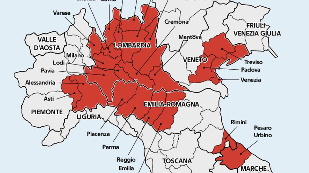Province Lombardia Cartina.Chiuse Lombardia E 14 Province Ecco Quali Zingaretti Positivo Al Test Firstonline