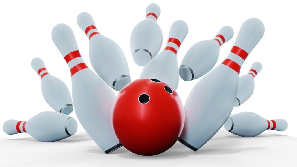 Birilli e palla da bowling