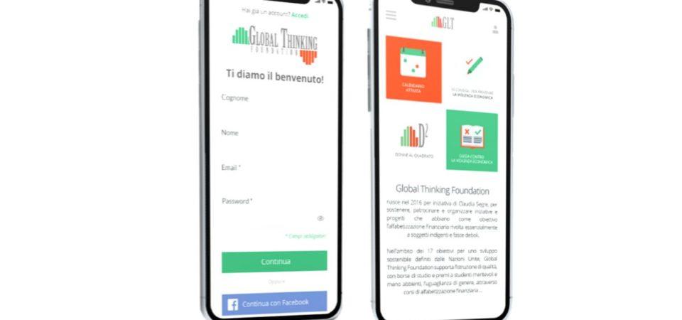 Educazione e gestione finanziaria, l'app di Global Thinking Foundation