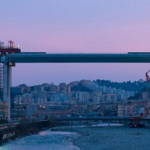 Ponte Genova quasi pronto: varato nuovo maxi-impalcato