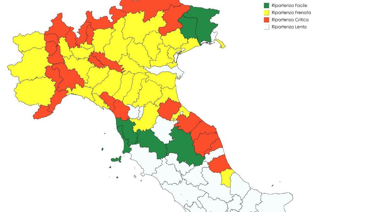 Cartina Italia Politica Con Capoluoghi Di Regione.Fase 2 Le Citta Sono Pronte A Riaprire Ecco La Mappa Firstonline