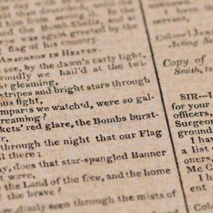 The Star-Spangled Banner: in asta la prima e rara stampa del giornale
