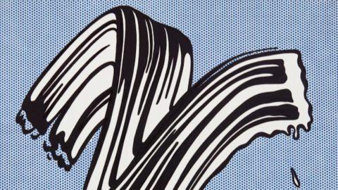 "Roy Lichtenstein, l'opera ""White Brushstroke I"" in asta a New York"
