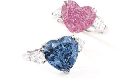 Gioielleria, due splendidi anelli a forma di cuore per l'asta live da Sotheby's