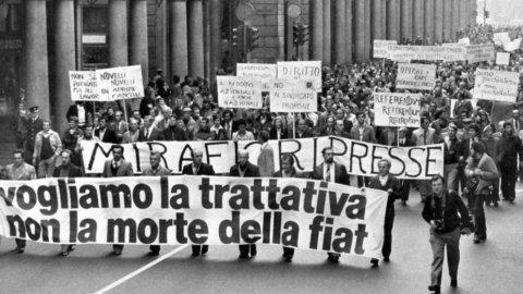 ACCADDE OGGI – La marcia dei 40mila della Fiat 40 anni fa