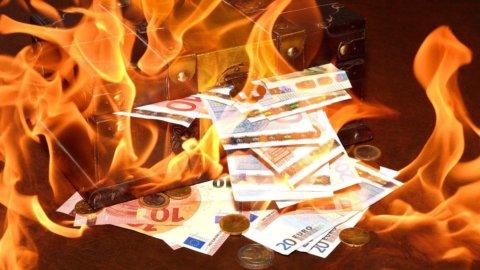 Euro o soldi bruciati
