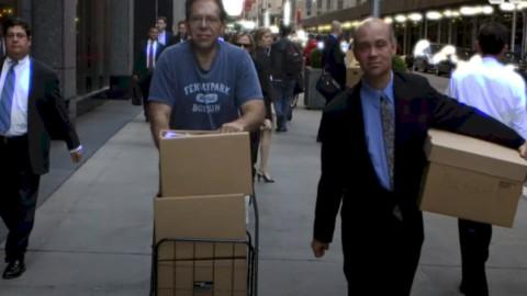 Impiegati di Lehman Brothers dopo il crack