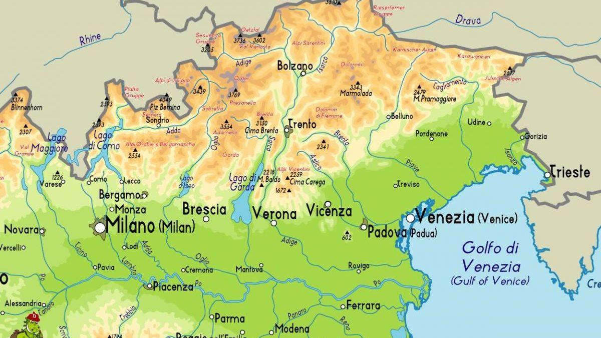Mappa Nord-Est