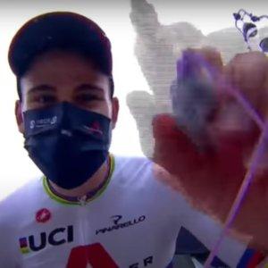 Giro d'Italia: Ganna vince la  crono ed è la prima maglia rosa