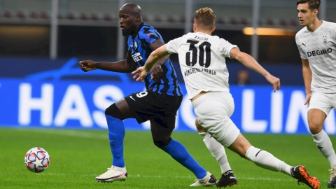Lukaku all'Inter in Champions League