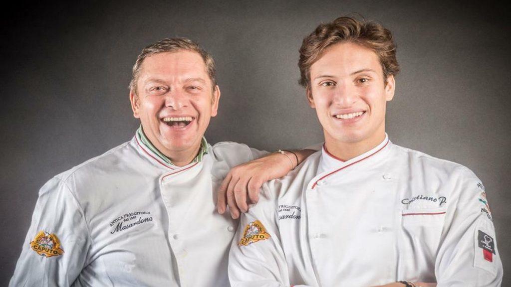 enzo e cristiano piccirillo  due generazioni chef de La Masardona