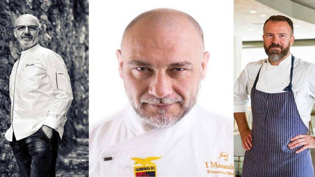 Da sinistra: Franco Pepe, Francesco Martucci, Simone Padoan