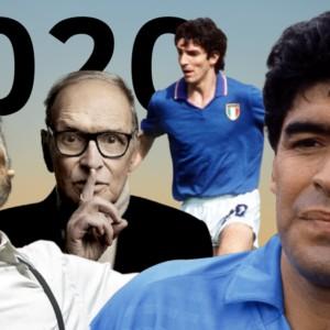 Morti nel 2020: da Morricone a Maradona e Pablito, i grandi che ci hanno lasciato