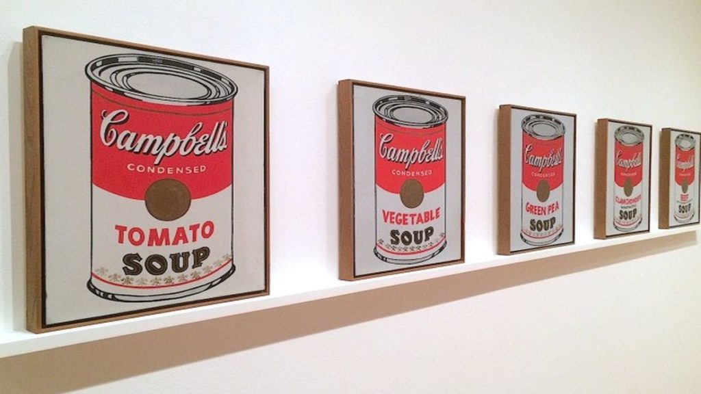 Andy Warhol le celebri Zuppe Campbells