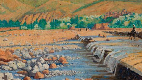 """Londra, in asta il dipinto """"Scene at Marrakech"""" di Winston Churchill"""