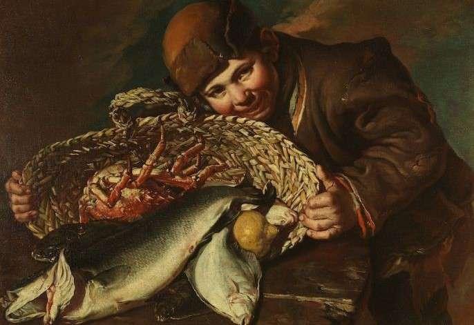 Giacomo Ceruti Ragazzo con cesta di pesci
