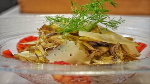 La ricetta di Giovanni Rugolotto, chef cimbro innamorato del carciofo spinoso di Menfi