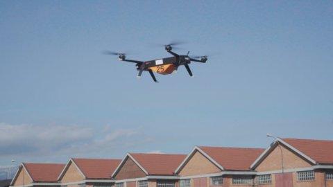 Droni elettrici per trasporto merci: il test di Leonardo