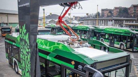 """Milano, ricarica veloce per i bus elettrici: il """"pieno"""" in 8 minuti"""