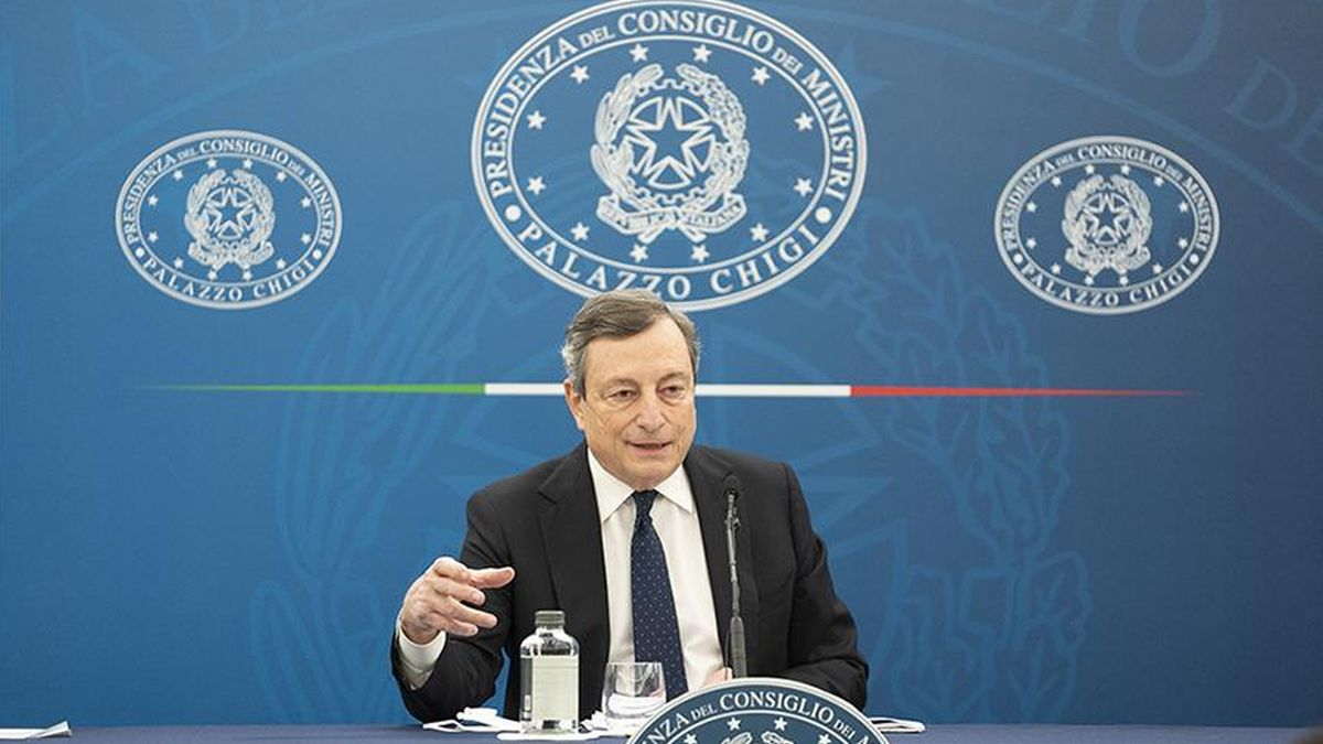 Il Presidente del Consiglio Mario Draghi