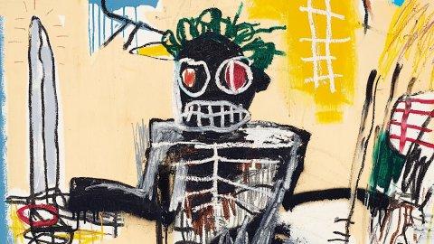 """Record per Jean-Michel Basquiat, l'opera """"Warrior"""" venduta per 35.077.853 euro"""