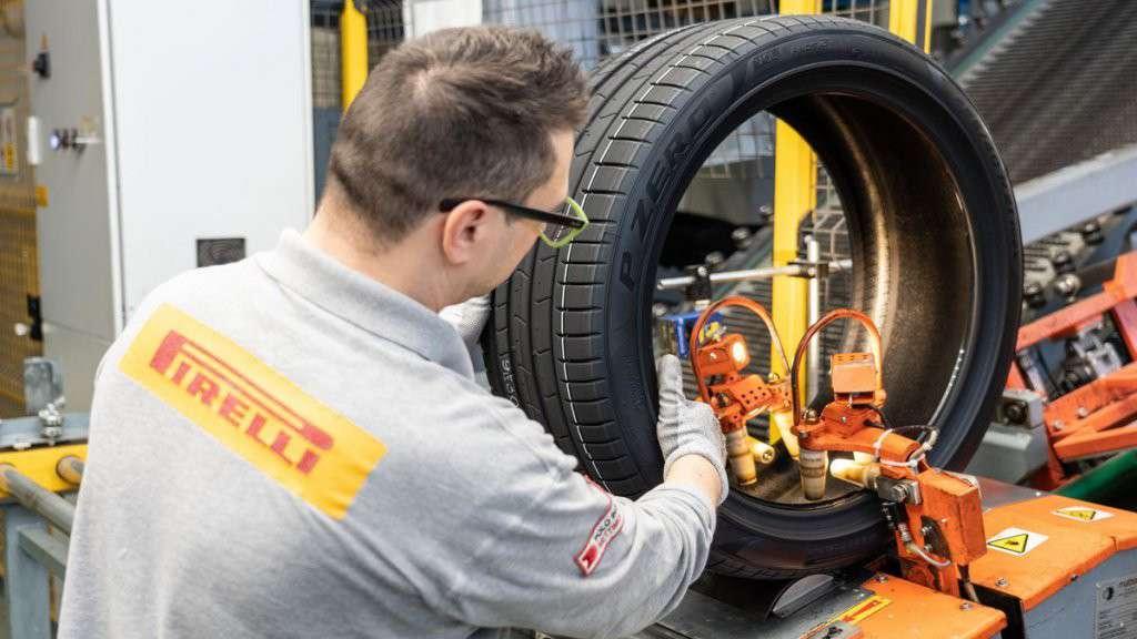 Spalla di un pneumatico Pirelli